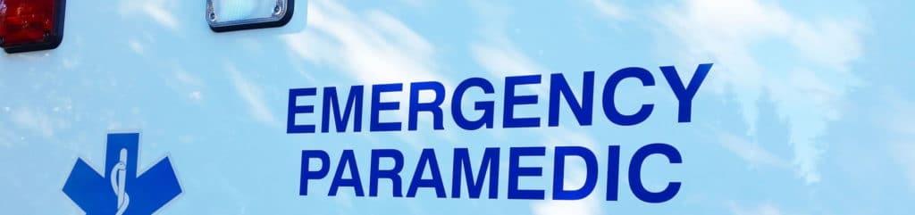 Emergency Paramedic signage